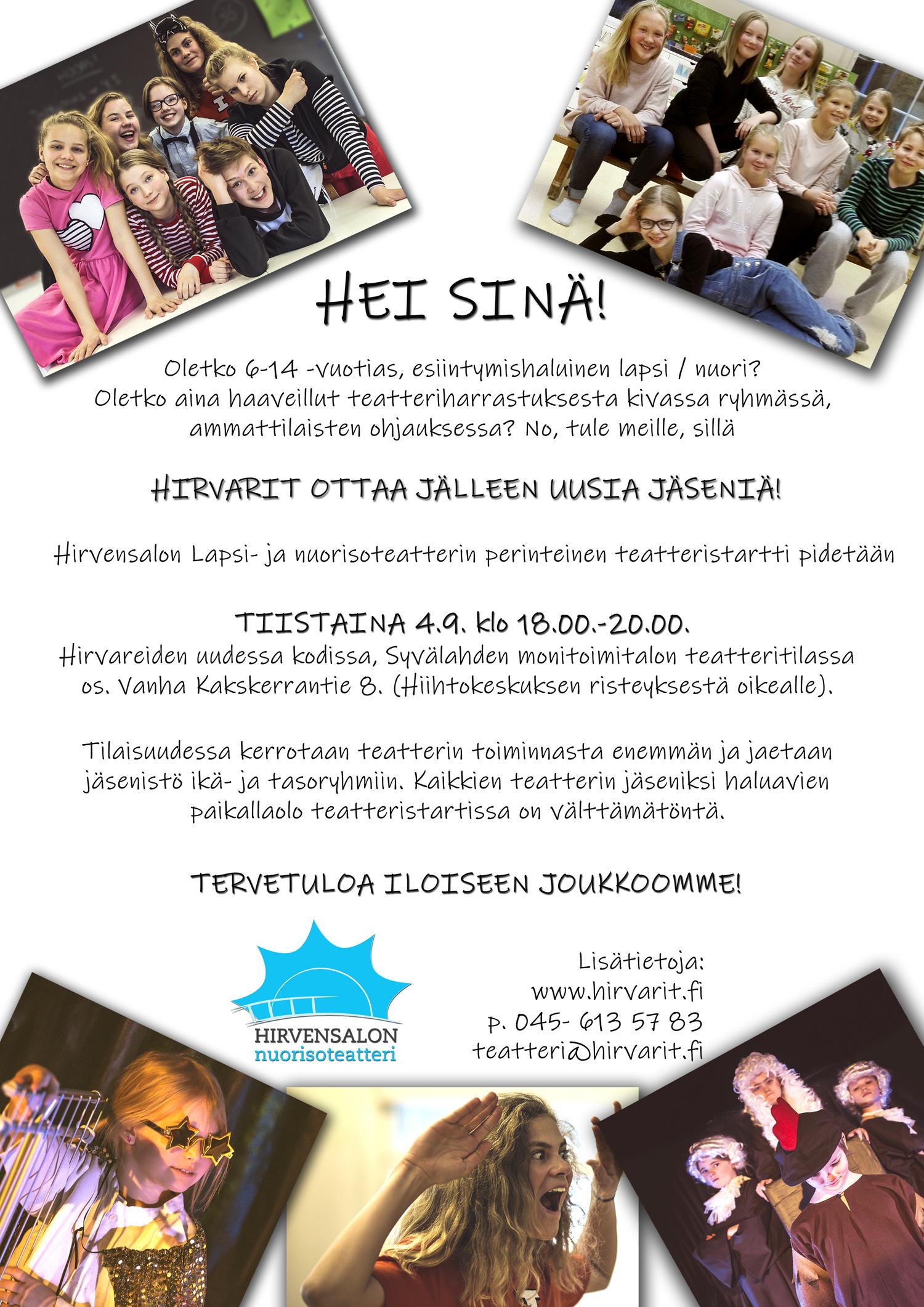 HIRVARIT, Syksy 2018, Ilmoitus toiminnan alkamisesta